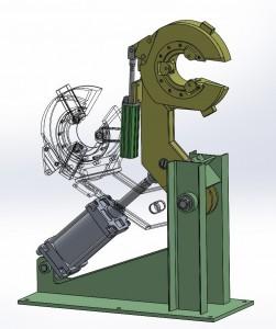 Люнет накидной пневматический АЛН – 85П