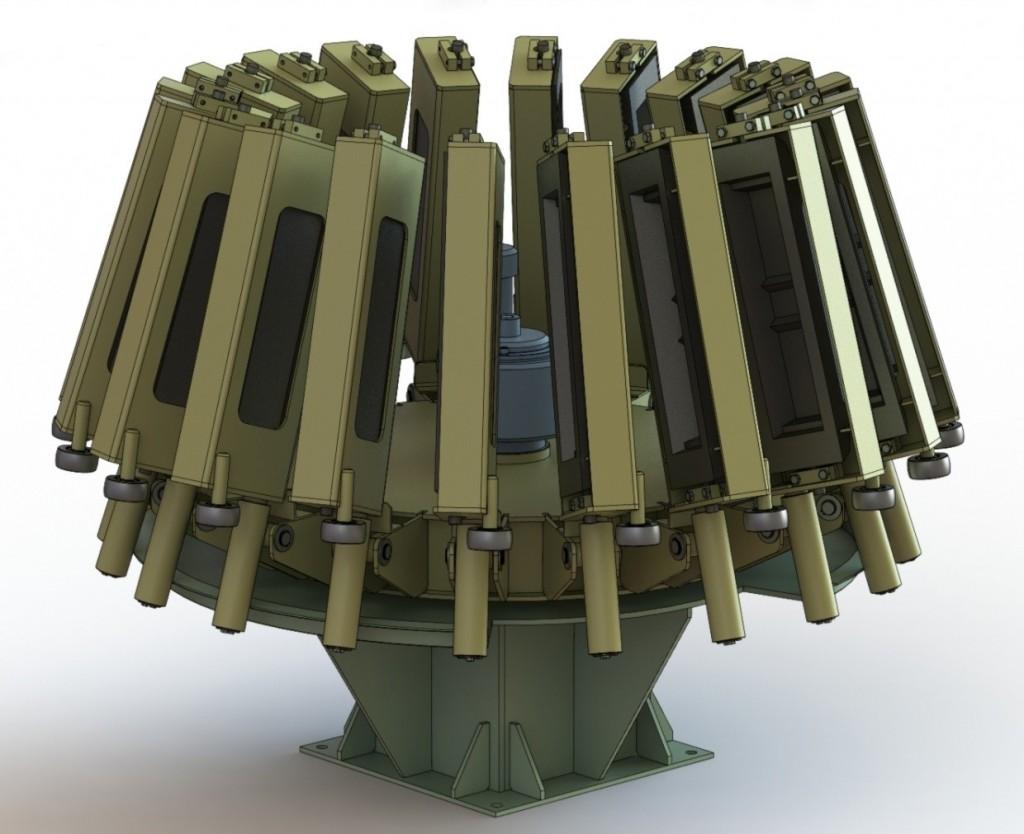 Конвейер карусельного типа ККТ-9С в сложенном состоянии